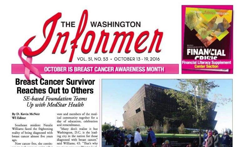 Washington Informer, October 13, 2016