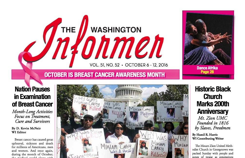 Washington Informer, October 6, 2016