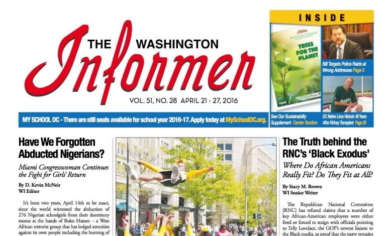Washington Informer, April 21, 2016