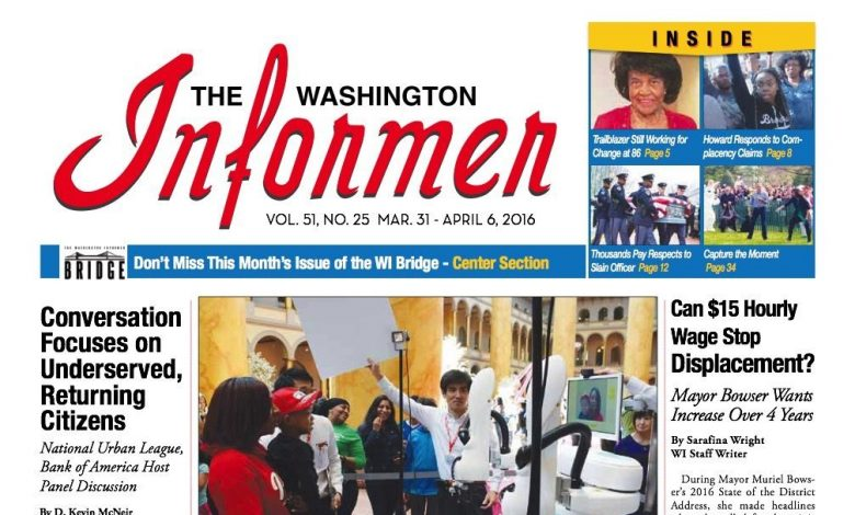 Photo of Informer Issue March 31, 2016
