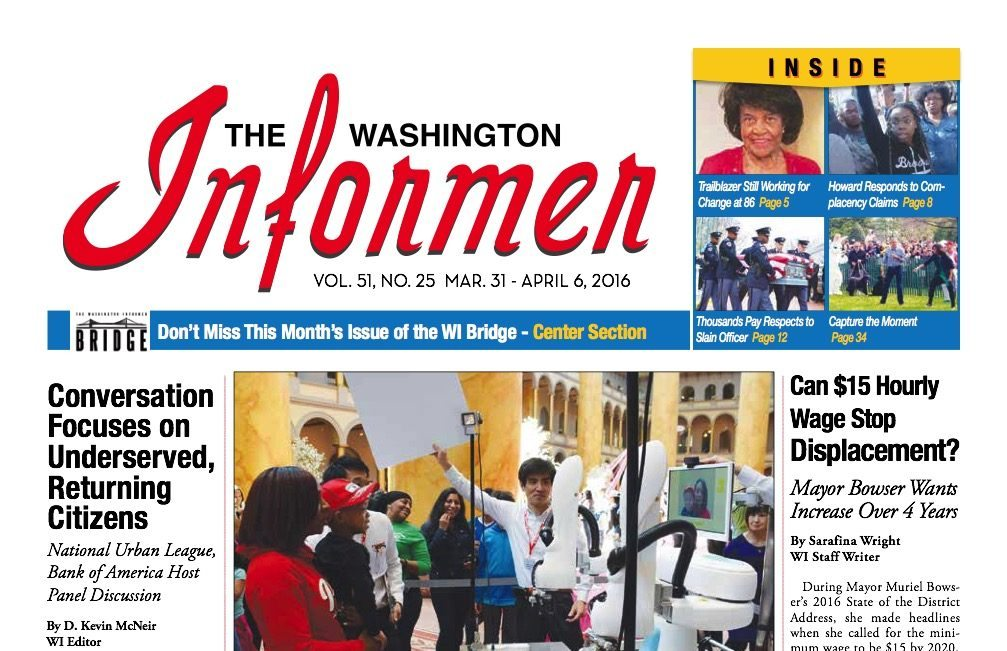 Washington Informer, March 31, 2016