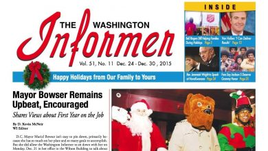 Photo of Washington Informer December 24, 2015