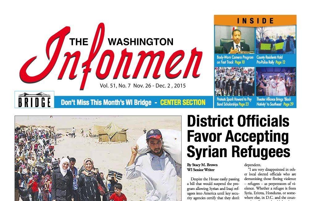 Washington Informer, November 26, 2015