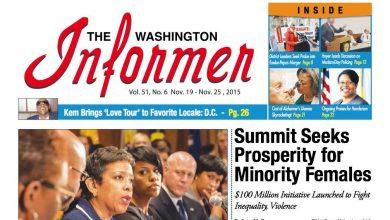 Photo of Washington Informer November 19, 2015