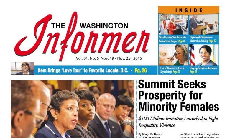 Washington Informer, November 19, 2015