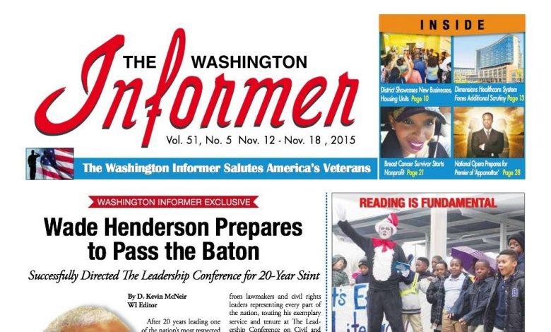 Washington Informer, November 12, 2015