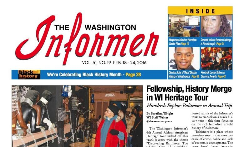 The Washington Informer, February 18, 2016