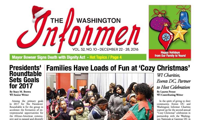 Washington Informer, December 22, 2016