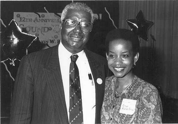 The late Calvin Rolark with his daughter Denise Rolark Barnes, publisher of The Washington Informer.