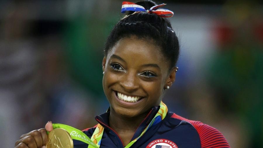Photo of Simone Biles Named AP Female Athlete of the Year