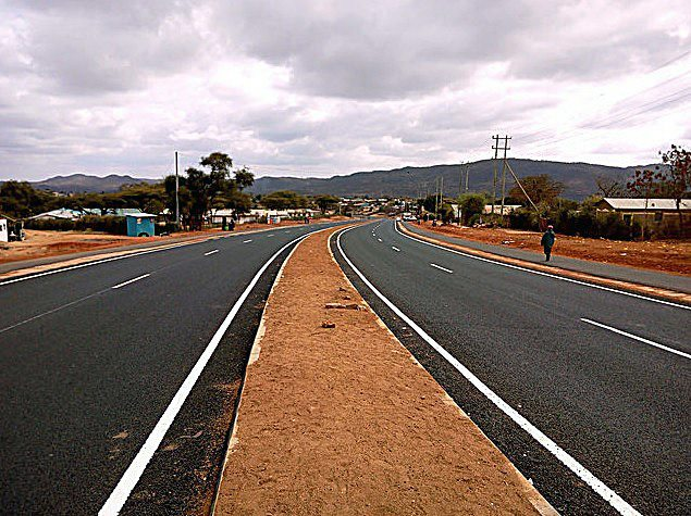 Kenyan Officials celebrate the opening of a highway that links Kenya and Ethiopia. /Courtesy of JamiiForums.com