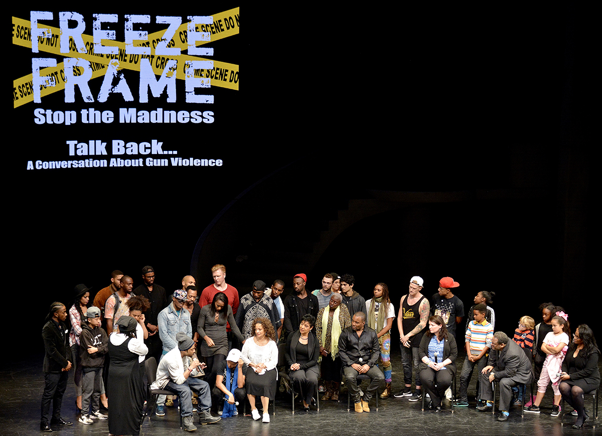 "The cast of ""Freeze Frame."" /Photo by Travis Riddick"