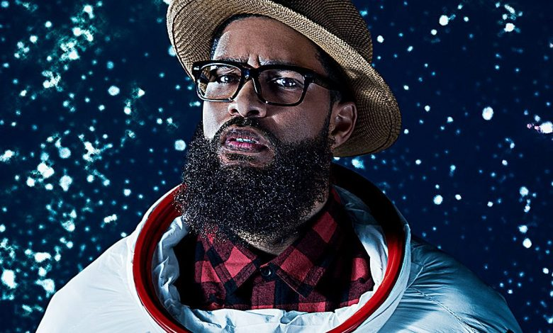"""Some of Chicago's funniest comedians take to the stage addressing the past and future of Black America in a new Woolly Mammoth Theatre Company production, """"Black Side of the Moon."""" /Photo courtesy Woolly Mammoth"""
