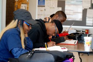 Students preparing for GED examinations in small class settings. /Photo courtesy Young Adult Learning Center