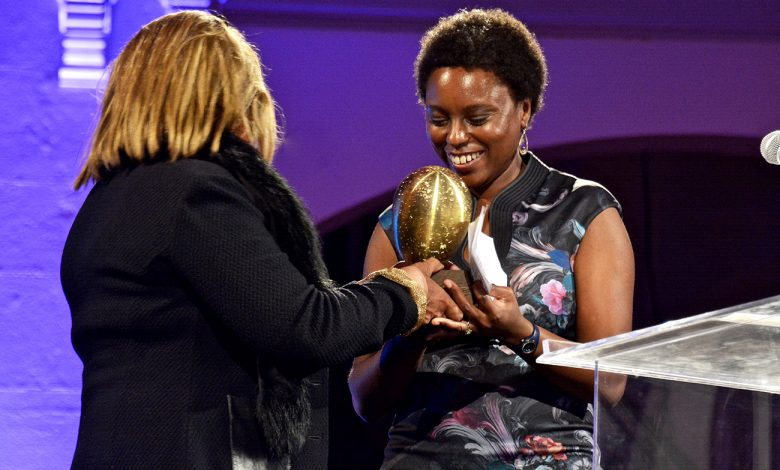 Kenyan artist Ato Malinda was the first of three honorees to be saluted during the first annual African Arts Awards dinner at the Smithsonian Arts and Industries Building in northwest D.C. on Oct. 28. Photo by Travis Riddick