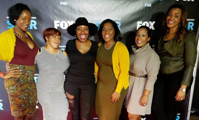 "Event producer Lauren Grant (center, in black), joined by some of her gal pals, hosted the ""HavPlenty Brunch"" at Acre 121 in Northwest on Sunday, Nov. 13 for a special screening of Lee Daniels' new show ""STAR,"" which premieres on Jan. 4. /Photo by D. Kevin McNeir"