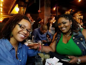 "Jessica Grange and Sheena Ballard, both from Alexandria, attended a ""HavPlenty Brunch"" on Sunday, Nov. 13 and said they can't wait to see more of Lee Daniels' new show ""STAR."" /Photo by D. Kevin McNeir"