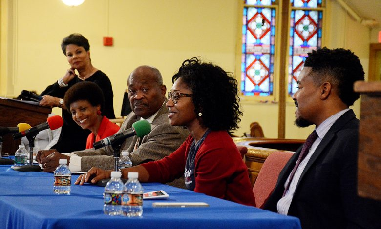 Claire Crawford speaks during a Ready to Vote community forum held at Metropolitan AME Church in northwest D.C. on Oct. 29. Photo by Roy Lewis