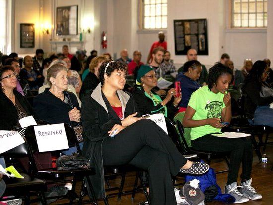It's a pack house in Pierce Hall of All Souls Church Unitarian DC for the 9th Annual Tenant Town Hall Meeting Saturday, May 7, 2016. /Photo by Nancy Shia @nancy_shia