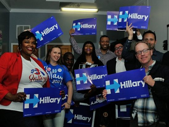 Ward 6 residents attend the Hillary Clinton Campaign open house at 1227 Pennsylvania Avenue, SE on Wednesday, May 18th. /Photo by Patricia Little @5feet2
