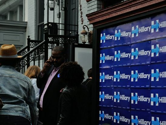 Residents attend the Hillary Clinton Campaign open house at 1227 Pennsylvania Avenue, SE on Wednesday, May 18th. /Photo by Patricia Little @5feet2