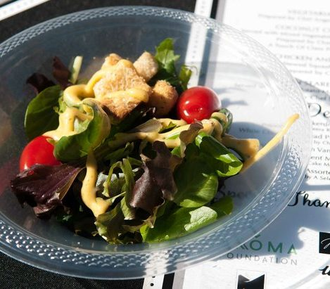 Hearty green salads are served to guests during the Sunday Soul DC Pop Up Event at the New York Avenue men's shelter, Sunday, April 3, 2016 in Northeast. /Photo by Patricia Little @5feet2