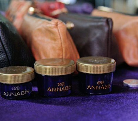 Cannabis mini containers and clutches for women created by Annabis, on display at the National Cannabis Festival, Saturday, April 23, 2016 at RFK Stadium. /Photo by Patricia Little @5feet2
