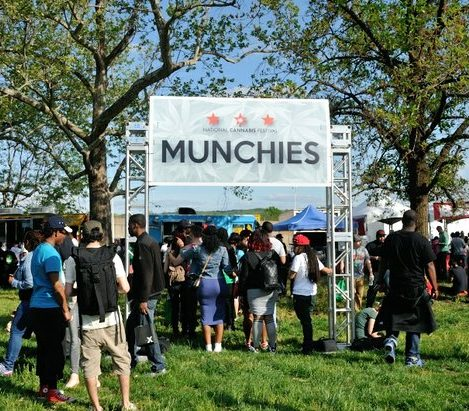 Festival attendees purchase snacks during the National Cannabis Festival, Saturday, April 23, 2016 at RFK Stadium. /Photo by Patricia Little @5feet2