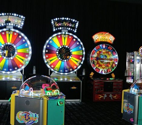 Various games available to patrons during the grand opening of Dave and Buster's restaurant, Monday, April 25, 2016 in Capitol Heights, MD. /Photo by Patricia Little @5feet2