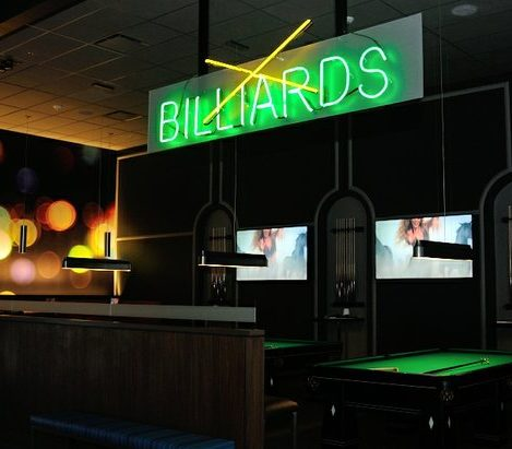 The billiards section of Dave and Buster's restaurant in Capitol Heights, MD. /Photo by Patricia Little @5feet2