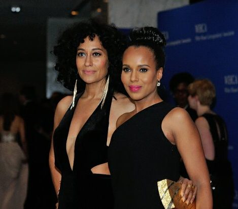 Actresses Kerry Washington and Traci Ellis Ross attend the 2016 White House Correspondences' Association Dinner at the Washington Hilton Hotel on Saturday, April 30, 2016 in Northwest. /Photo by Patricia Little @5feet2