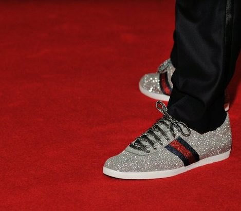 A close up of actor Anthony Anderson's dress shoes for the evening. /Photo by Patricia Little @5feet2
