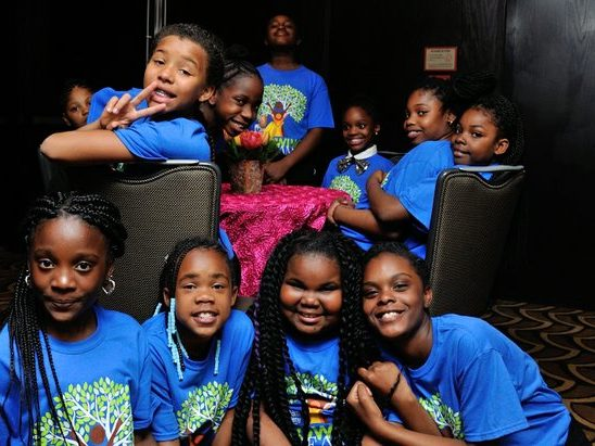 DreamKids from Turner Elementary School in Washington, DC, gather in the lobby before performing during the 15th Annual Power of a Dream Gala on Tuesday, May 3, 2016 at the Renaissance Hotel in Northwest. /Photo by Patricia Little @5feet2