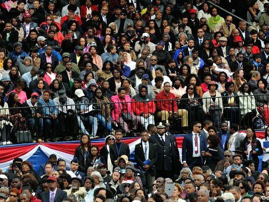 Family, friends, and guests attend the 148th Commencement Convocation at Howard University on Saturday, May 7, 2016 in Northwest. /Photo by Patricia Little