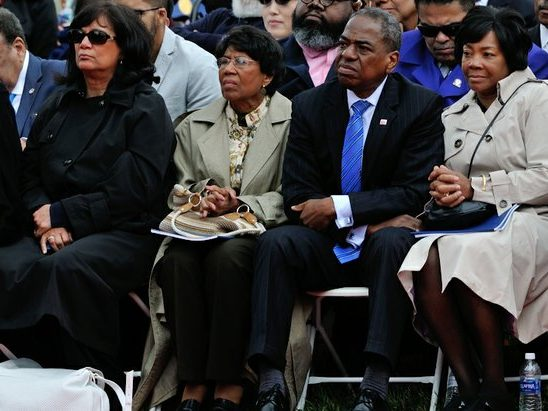 DC councilmember Vincent Orange (2nd from right) attend the 148th Commencement Convocation at Howard University on Saturday, May 7, 2016 in Northwest. /Photo by Patricia Little