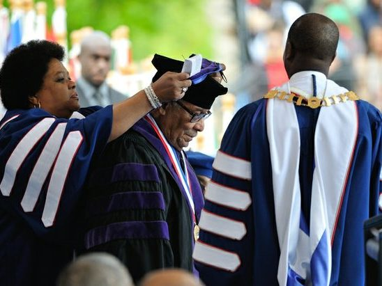 Ambassador Horace Dawson receives hood for the Degree of Doctor of Laws during the 148th Commencement Convocation at Howard University on Saturday, May 7, 2016 in Northwest. /Photo by Patricia Little @5feet2