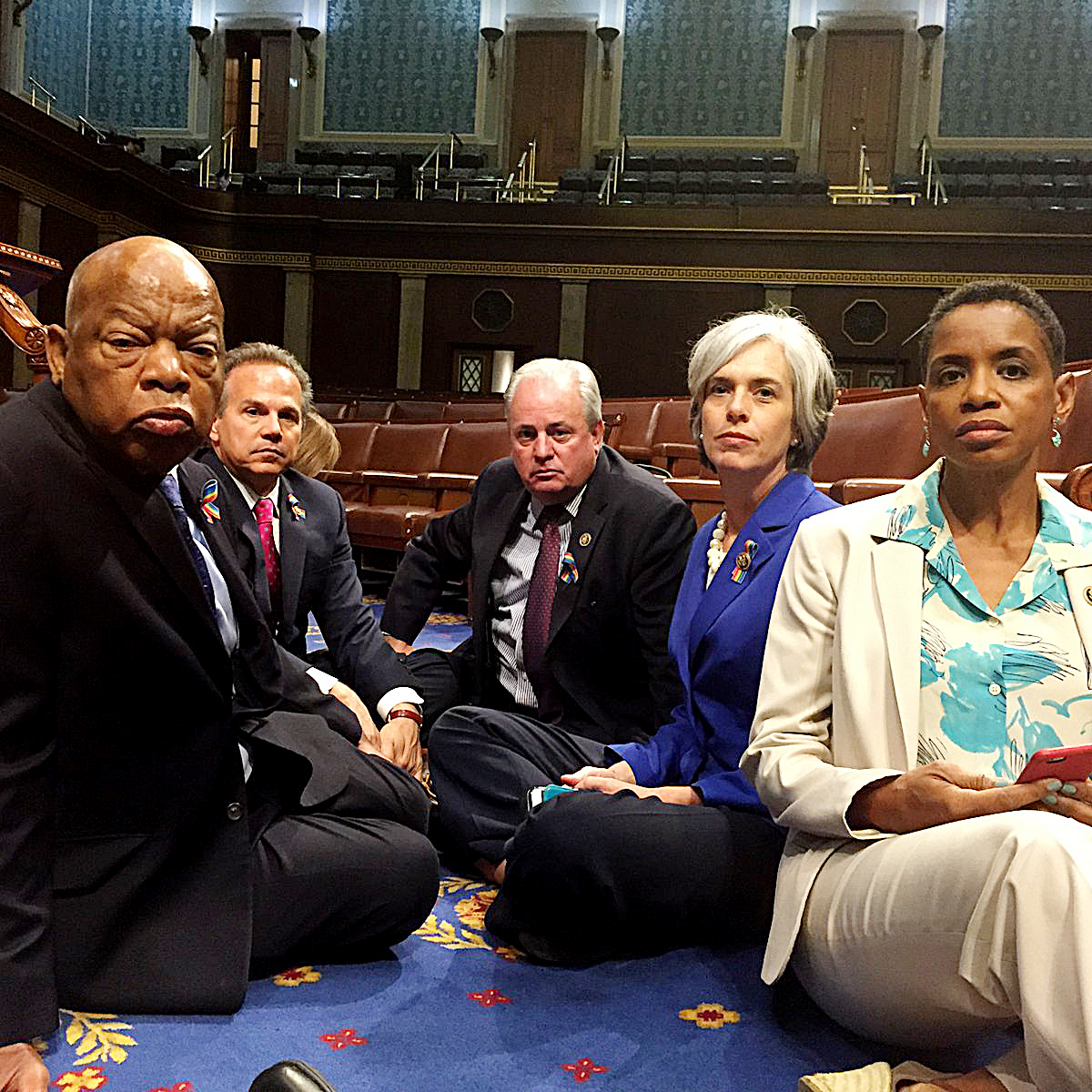 Photo of Rep. John Lewis Asserts the Right to Dissent