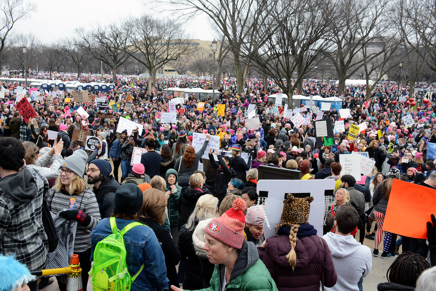Women all over the world rang out a message demanding equality on Jan. 21. Over a million women showed up in Washington, D.C. (Roy Lewis/The Washington Informer)