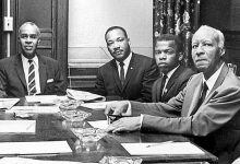 Photo of John Lewis Still Standing for Civil Rights, MLK