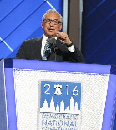 Congressman Bobby Scott (D-Va. 3rd District) speaks during the DNCC in Philadelphia on Wednesday, July 27.