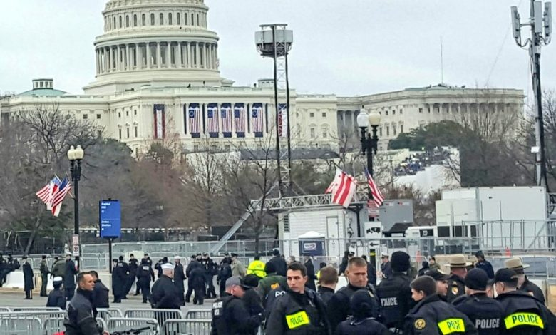 Officers patrol the area and provide assistance during the inauguration events for President Donald Trump in downtown D.C. (Courtesy of Metropolitan Police Department via Twitter)