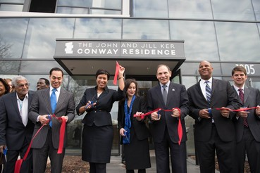 D.C. Mayor Muriel Bowser (third from left) participates in the Jan. 121 recent ribbon-cutting ceremony that signaled opening of the Conway Residence for homeless veterans. (Courtesy of dc.gov)