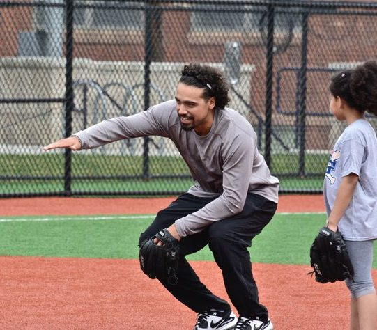 Anthony Rendon, the baseball infielder demonstrates to a junior female athlete, baseball isn't just for boys. /Photo by Travis Riddick @actor_TR