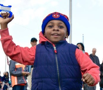 Myles McKever age 5, was all smiles as he ran tirelessly for hours flying his Spiderman kite at the festival. /Photo by Travis Riddick @actor_TR
