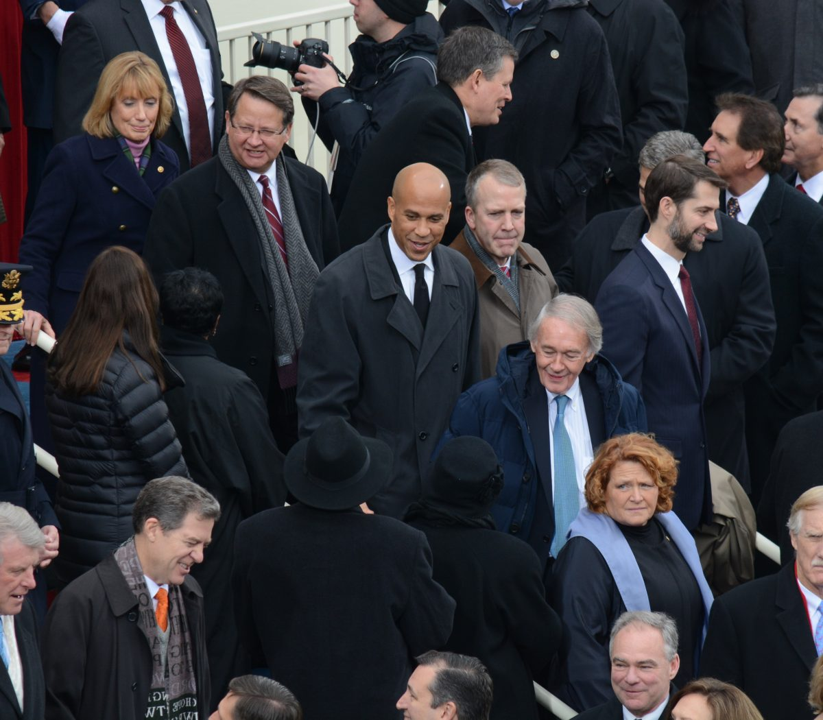 Senator Cory Booker arrives at the 58th Presidential Inauguration on January 20, 2017. /Photo by Roy Lewis