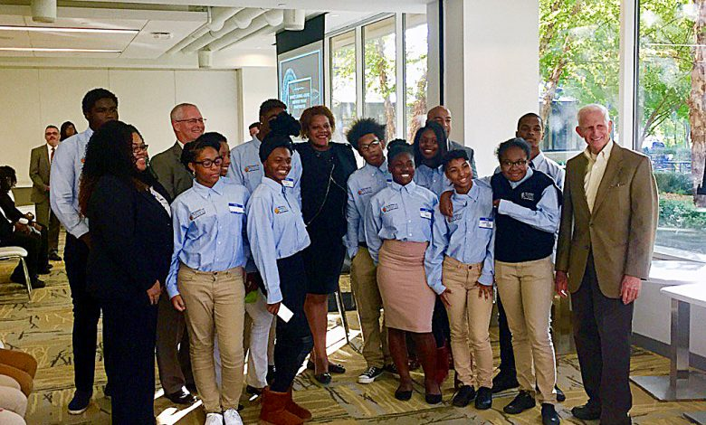 High school students explored careers in the hospitality industry. /Courtesy of DCPS via Twitter