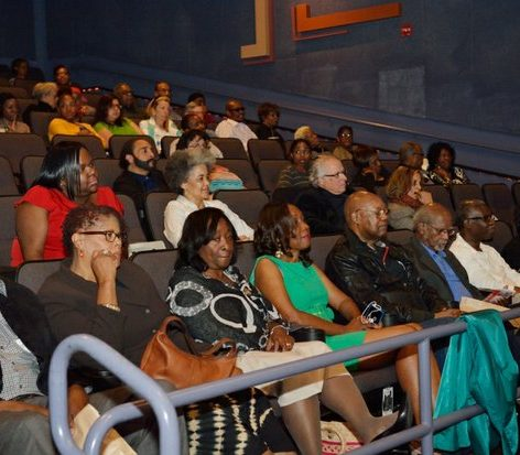 Guests prepare to view the world premiere screening of Dunbar, Thursday, March 31, 2016 at the E Street Cinema in Northwest. /Photo by Patricia Little @5feet2