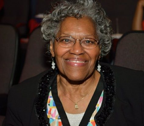Yvonne McCall-Baskerville, class of 1943, attends the world premiere screening of Dunbar, Thursday, March 31, 2016 at the E Street Cinema in Northwest. /Photo by Patricia Little @5feet2