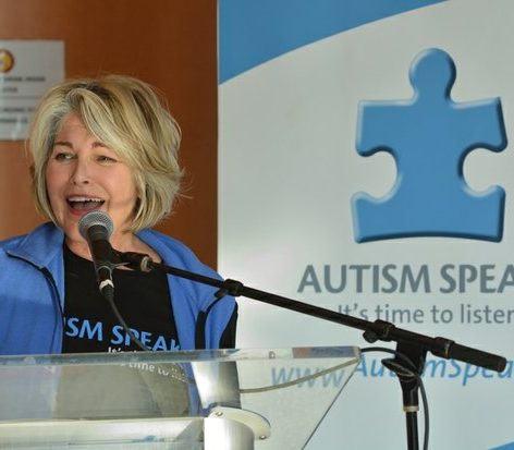 Glen Finland, Board Member of Autism Speaks of the National Capital Region, shares her story about her son's disorder during Autism Speaks Light It Up Blue event at the THEARC, Saturday, April 2, 2016 in Southeast. /Photo by Patricia Little @5feet2