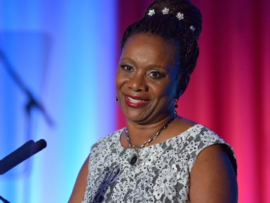 Candice Matthews, president of the Americas, Amway, delivers welcome address during the 15th Annual Power of a Dream Gala on Tuesday, May 3, 2016 at the Renaissance Hotel in Northwest. /Photo by Patricia Little @5feet2